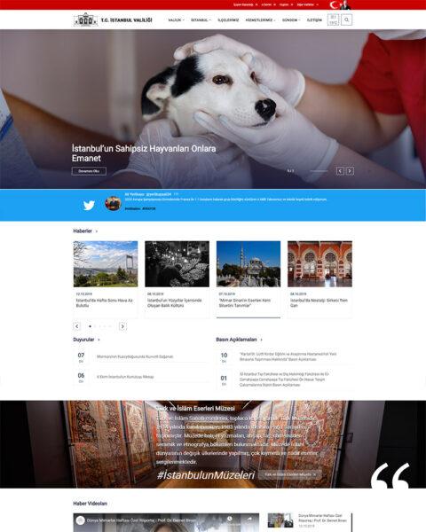 İstanbul Valiliği İnternet Sitesi - 2019 Yılında İSAY altyapısına geçti.