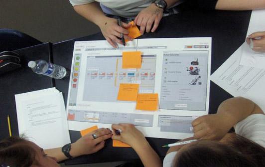 İnternet sitesi geliştirme sürecinin başında, kâğıt prototipler üzerinden de kullanılabilirlik testleri uygulanabilir